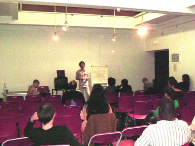 Photograph of Talk given at Conway Hall in September of 2004