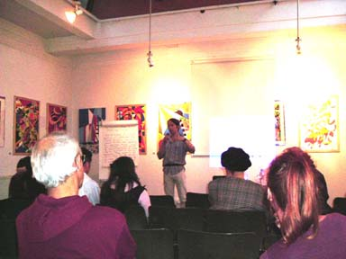 Photograph of Talk given at Conway Hall in September of 2005