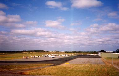 Photo of the airfield and aerodrome at Janderkot near Perth in Western Australia