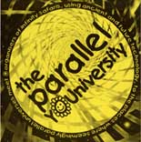 Flier from the rave party called Parallel University or Youniversity, held in Bagleys studios London and organized by the promoter Fraser Clark