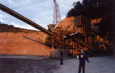 Photo of the stone quarry near where I had the powerful mystical experience. In the foreground are travelling companions Billy Halsey of Cosmosis and DJ Tristan
